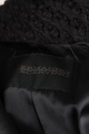 Ermanno Scervino Wool Coat - black