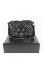 Chanel Flap Bag Crinkle Coated Canvas