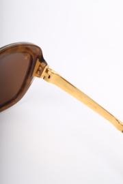 Louis Vuitton Leopard Print Sunglasses - brown/gold