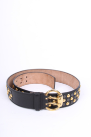 Gucci Studded Vintage Belt - black