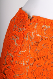 Prada Lace Skirt - orange