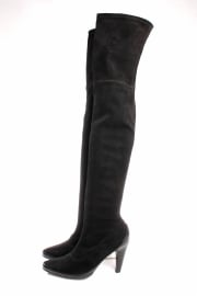 Salvatore Ferragamo Overknee Boots - black suede