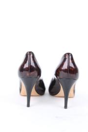 Giuseppe Zanotti Brown Patent Leather Tortoise Shell Heels Pumps