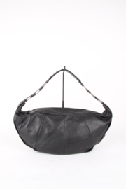 Yves Saint Laurent Rive Gauche by Tom Ford Black Leather Half Moon Shoulder Handbag