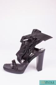 Yves Saint Laurent Sandalette Pumps - black