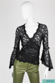 Diane von Furstenberg Lace Top - black