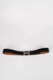 Hermes Reversible 'H' Belt - black/brown