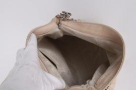 Chanel Ecru Leather Medium Silver Coloured Chain Hardware Shopper Tote Shoulder Hand Bag