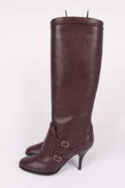 Salvatore Ferragamo Laurita Knee-high Boots - burgundy
