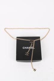 Chanel 08V (2008) Black Enamel Silver Waist Chain Belt