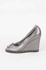 Chanel Chain Wedges - blackish silver