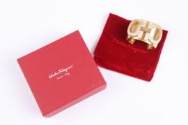 Salvatore Ferragamo Gancini Cuff Bracelet - matte gold