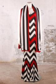 Christian Dior avondjurk - rood/zwart/wit
