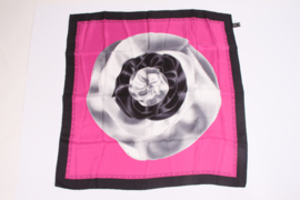 Versace Silk Scarf - pink/black/gray/white