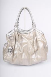 Gucci Sukey Tote Bag Python Large - silver
