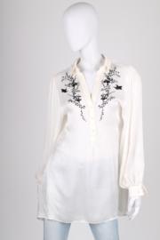 Alexander McQueen Oversized Silk Blouse - white