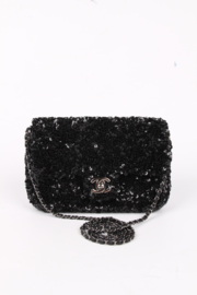 Chanel Classic Sequin Flap Bag - black