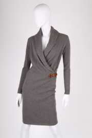 Ralph Lauren Wool Wrap Dress -grey