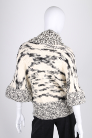 Stella McCartney Knitted Wool Cardigan - black & white
