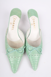 Chanel Shoes - minty green
