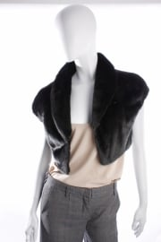Prada Fur Jacket - black
