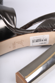 Giuseppe Zanotti High Heeled Peep-Toe Pumps - blackish silver