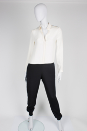 Joseph Silk Jumpsuit - black & white