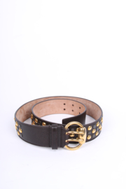 Gucci Studded Vintage Belt - dark brown