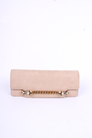 Gucci Tigrette Evening Bag Clutch - beige nubuck