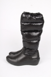 Moncler Leather & Nylon Snow Boots - black