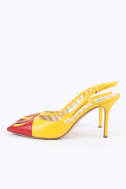 Moschino McDonald's Slingback Pumps - red/yellow