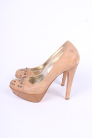 Just Cavalli Platform Studs Pumps - brown