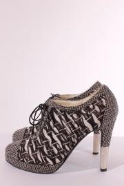 Chanel laarsjes - zwart/wit/zilver