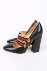 Gucci Pumps Blue/Red Strap - black