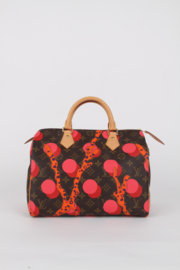 Louis Vuitton Ramage Grenade Limited Edition Red Pink Dots Coral Ocean Still Life Print LV Logo Gold Coloured Hardware Top Handle Speedy Hand Bag