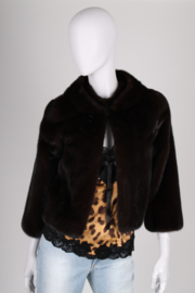 Celine Vison Mink Coat - dark brown