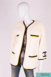 Chanel Alpaca Vintage Jacket 1994 - ivory white