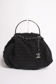 Chanel Tweed Boucle Bag - black