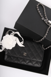 Chanel Wallet On Chain WOC Bag - black/silver