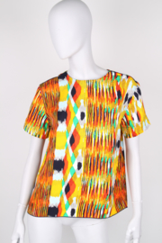 Céline Multicolour Tribal Print Tunic Top Skirt Two-Piece Set