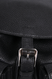 Gucci Bamboo Tassel Leather Backpack - black
