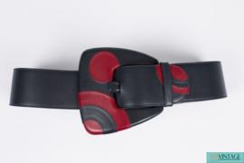 Gucci Belt Leather - dark blue/burgundy red