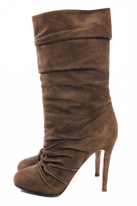 Louboutin Ankle Boots - grey suede