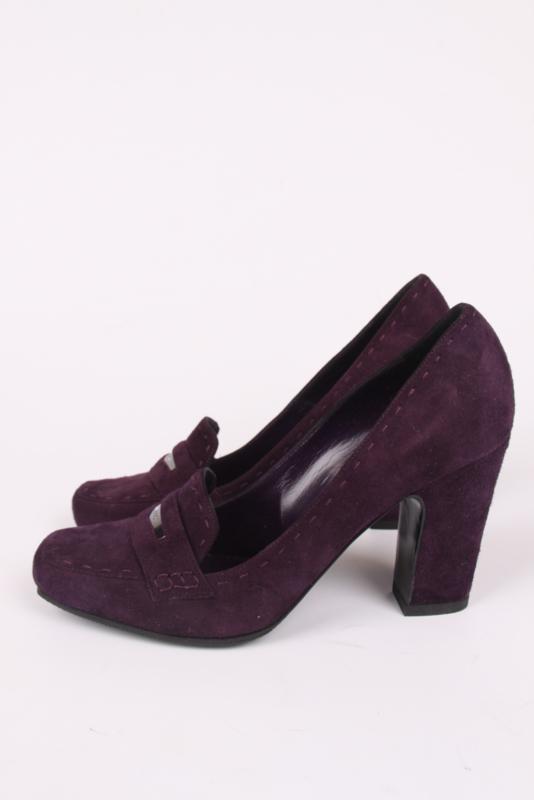 6690633fe730d Versace Suede Pumps - dark purple | SHOES | 035vintage