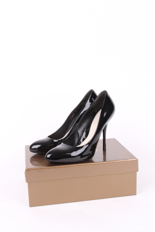 Gucci Tom Ford Black Patent Leather Round Toe Stiletto High Heels