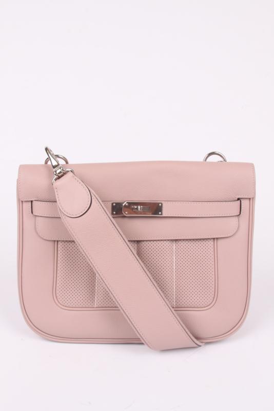Hermes Berline Shoulder Bag Swift Leather - powder pink