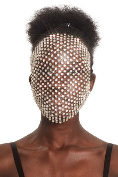 Sheridan Tjhung Couture Silver Diamond Swarovski Crystal Face Veil