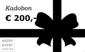Kadobon € 200,-