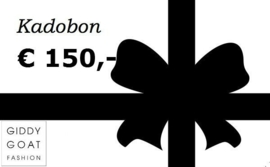 Kadobon € 150,-