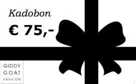 Kadobon € 75,-